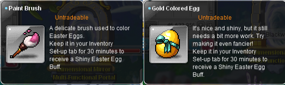 Paint brush and Gold colored egg