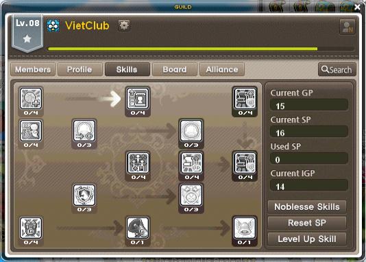 Guild Skill UI