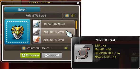 scroll trace UI eg 2