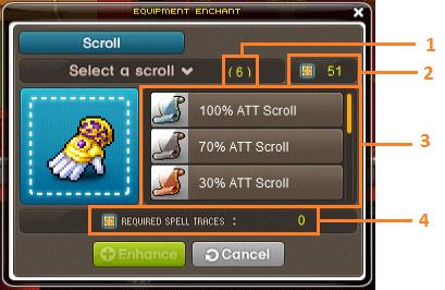 scroll trace UI eg