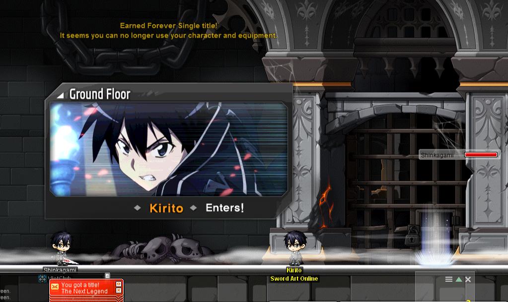 kirito enters