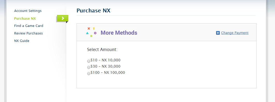select amount